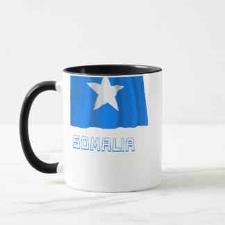 Somalia som vinkar flagga med namn