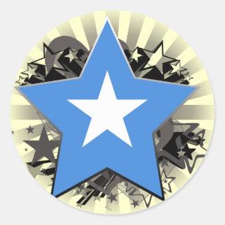 Somalia stjärna runt klistermärke