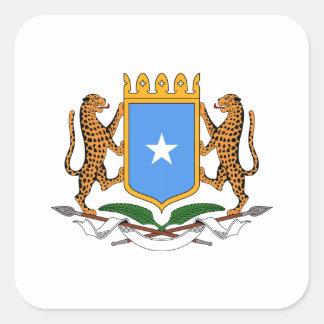 Somalia vapensköld fyrkantigt klistermärke
