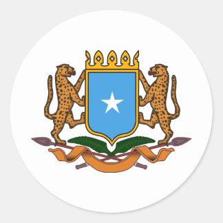 Somalia vapensköld runt klistermärke
