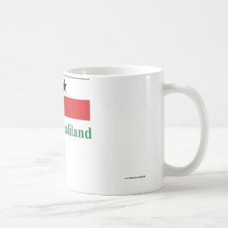 Somaliland flagga med namn i somaliskt kaffemugg