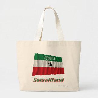 Somaliland som vinkar flagga med namn kassar