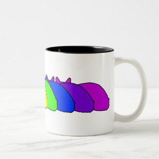Somalisk regnbåge Två-Tonad mugg