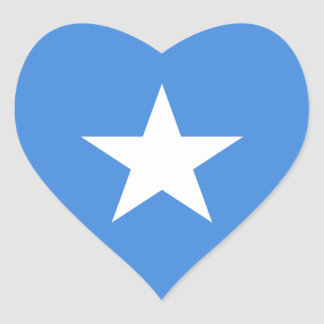 Somaliska/Somalian Somalia/flagga Hjärtformat Klistermärke