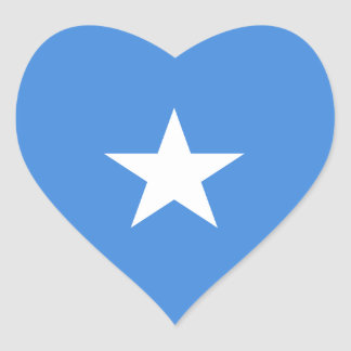 Somaliska/Somalian Somalia/hjärtaflagga Hjärtformat Klistermärke