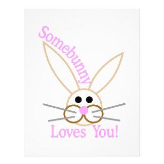 Somebunny älskar dig! brevhuvud