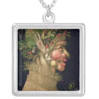 Sommar 1563, silverpläterat halsband