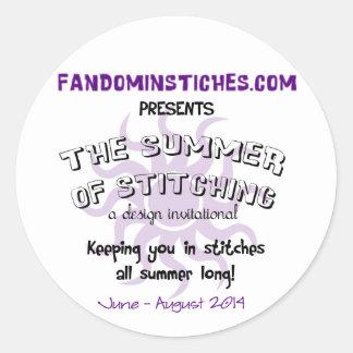 Sommar 2014 av att sy runt klistermärke