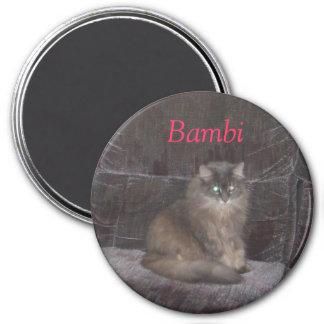 Sommar Augusti 2007 104, Bambi Magnet Rund 7.6 Cm