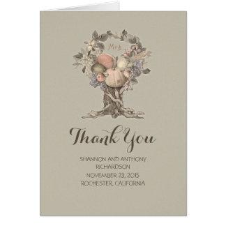 sommar - bröllop för nedgångträdskörden tackar dig OBS kort