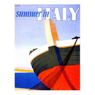 Sommar i italienvintage resor vykort