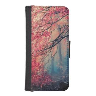 Sommar och vinter i skogen iPhone SE/5/5s plånboksfodral