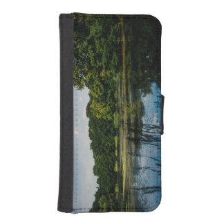 Sommar sjön landskap fotograferar iPhone SE/5/5s plånbok