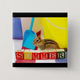 Sommar som älskar jordekorre standard kanpp fyrkantig 5.1 cm
