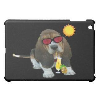 Sommar Time för hund för Basset för Ipad iPad Mini Mobil Fodral