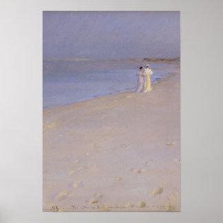 Sommarafton på den södra stranden, Skagen, 1893 Poster