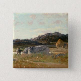 Sommaren landskap 2 standard kanpp fyrkantig 5.1 cm