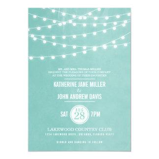 Sommaren stränger ljus som gifta sig inbjudan 12,7 x 17,8 cm inbjudningskort
