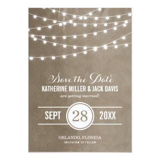 Sommaren stränger ljusspara datum meddelande 12,7 x 17,8 cm inbjudningskort
