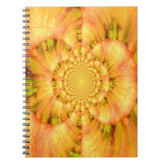 SommarFractalanteckningsbok Anteckningsbok Med Spiral