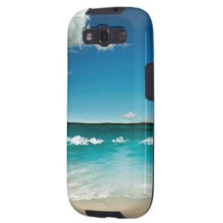 Sommarhav - skyddande fodral för Androidgalax S II Galaxy S3 Skydd
