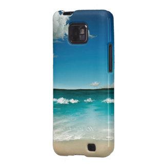Sommarhav - skyddande fodral för Androidgalax S II Galaxy S2 Fodral
