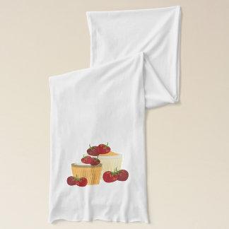Sommarjordgubbe- och muffinskonst sjal