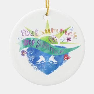 Sommarkonståkareprydnad Julgransprydnad Keramik
