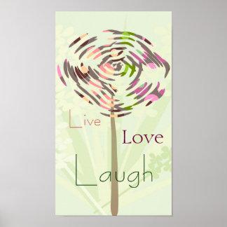Sommarmaskros som är levande, kärlek, skratt. Skrä Poster