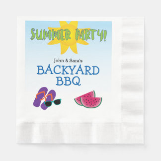 Sommarparty med vattenmelonen & solen, personlig pappersservetter