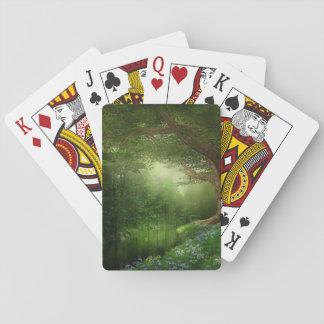 Sommarskogflod som leker kort casinokort