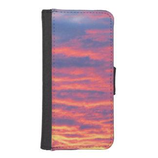Sommarsolnedgång iPhone SE/5/5s Plånboksfodral