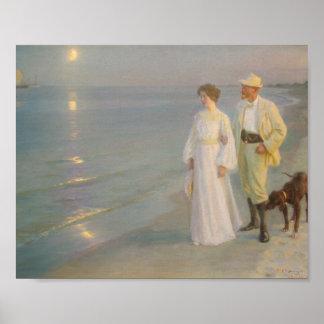Sommeraften ved Skagens strandar Poster