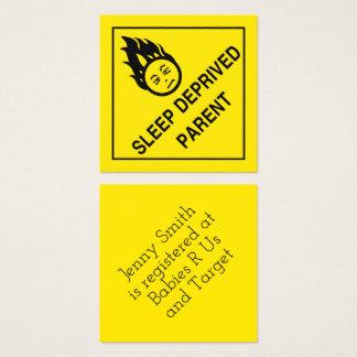 Sömn berövad förälder fyrkantigt visitkort