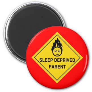 Sömn (röd) berövad förälder, magnet