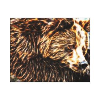 Sömnig björnkanfas (20 x 16) vid Gahr diagram Canvastryck