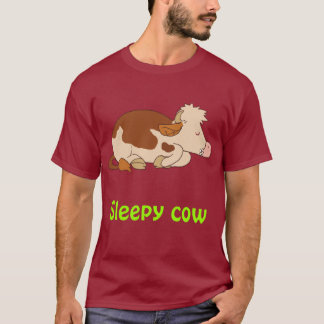 Sömnig kon t shirt