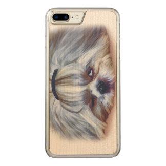 Sömnig Shih Tzu hund Carved iPhone 7 Plus Skal