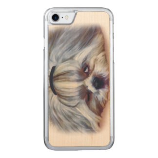 Sömnig Shih Tzu hund Carved iPhone 7 Skal