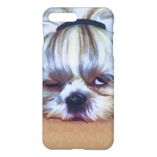 Sömnig Shih Tzu hund iPhone 7 Plus Skal