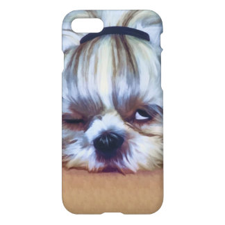 Sömnig Shih Tzu hund iPhone 7 Skal