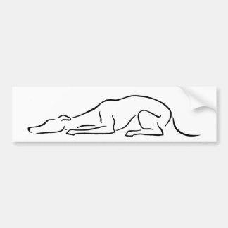 Sömnig Sphinxing vinthund Bildekal