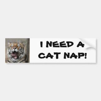 Sömnig tiger bildekal