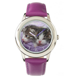 Sömniga söta kattungar armbandsur
