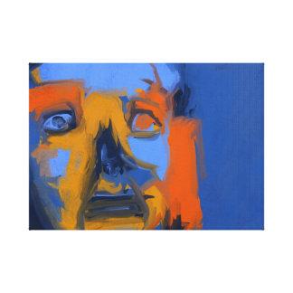Sömnlös person - modern Digital konstkanfas 18x24 Kanvastryck