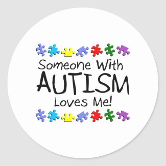 Somone med Autism älskar mig (PP) sticker