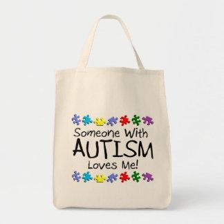 Somone med Autism älskar mig (PP) Mat Tygkasse