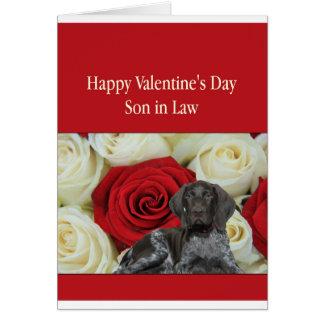 Son i för Grizzlyvalentin för lag glansig kärlek Hälsningskort