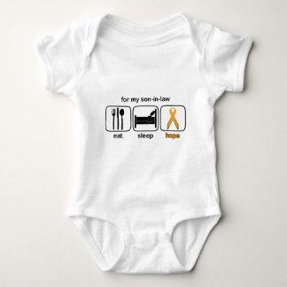Son-i-lag äter sömnhopp - Leukemia Tee Shirts