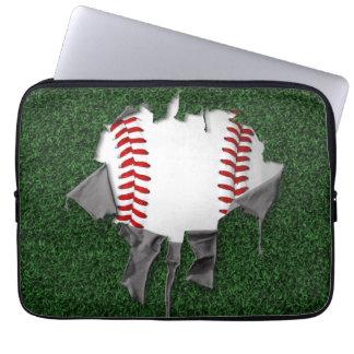 Sönderriven baseball laptop sleeve